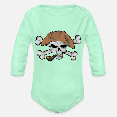 Piracy Skull Piracy - Organic Long-Sleeved Baby Bodysuit