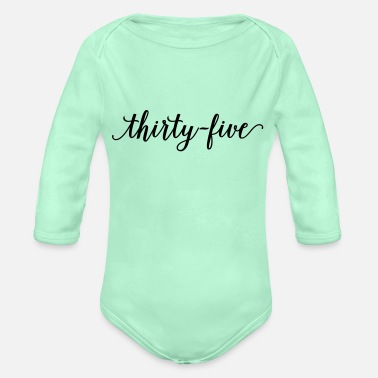 35 35 - Organic Long-Sleeved Baby Bodysuit