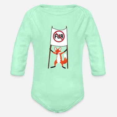Fur No Fur - Organic Long-Sleeved Baby Bodysuit