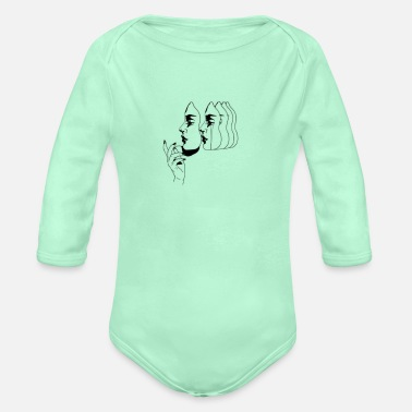 Many faces - Organic Long-Sleeved Baby Bodysuit