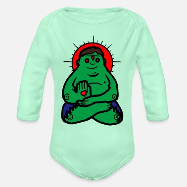 Comics comics - Organic Long-Sleeved Baby Bodysuit