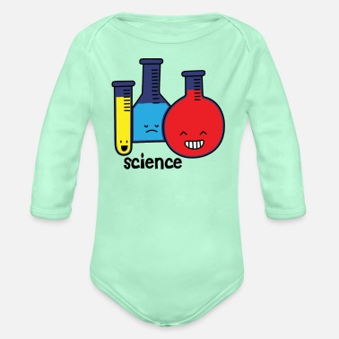 Test Tube Test Tubes - Organic Long-Sleeved Baby Bodysuit