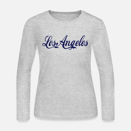 Los Angeles Long-Sleeve Shirts - los angeles - Women's Jersey Longsleeve Shirt gray