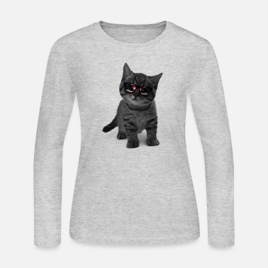 Sunglasses cat with sunglasses - Women's Jersey Longsleeve Shirt