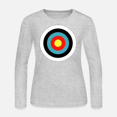 Bulls Eye Bullseye Archery Target Shooter Rings - Women's Long Sleeve Jersey T-Shirt