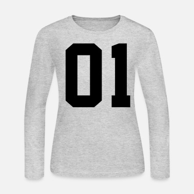 Plain Number 1, Number, Sports, Jersey, Team, Varsity - Women's Jersey Longsleeve Shirt