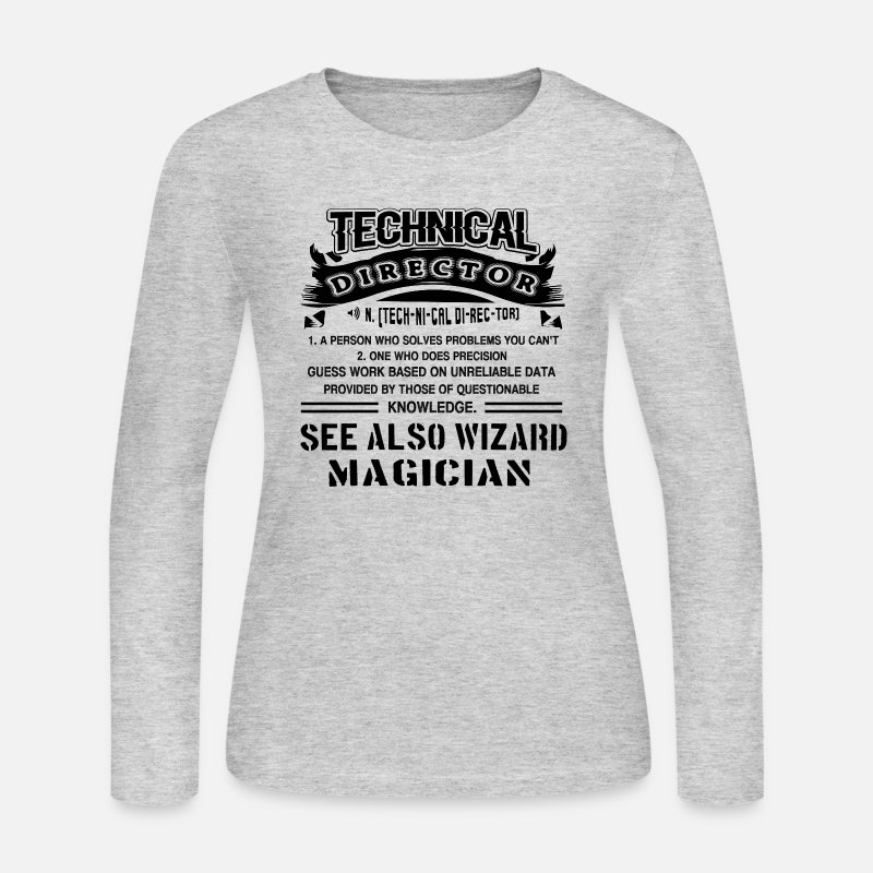 Technical Director Shirt Long sleeve shirts - Technical Director Definition  Shirt - Women s Jersey Longsleeve Shirt 56a01341f