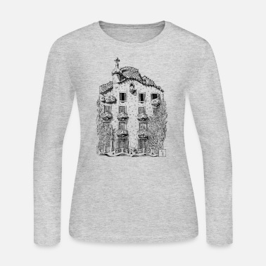 Black And White Collection Batllo House - Women's Jersey Longsleeve Shirt
