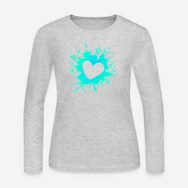 Heart Splashattack - Women's Long Sleeve Jersey T-Shirt