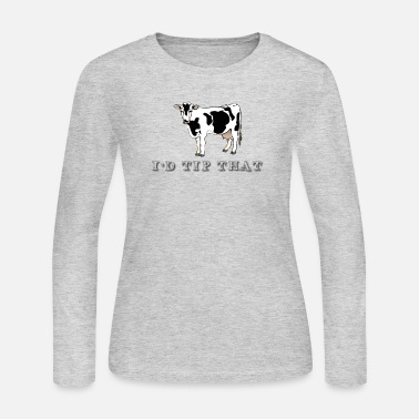 Farmer Funny Cow Farmer Design - Women's Long Sleeve Jersey T-Shirt
