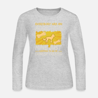 Chinese Chinese Crested Funny Dog Addiction - Women's Jersey Longsleeve Shirt