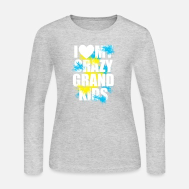 i heart my crazy grand kids - Women's Jersey Longsleeve Shirt