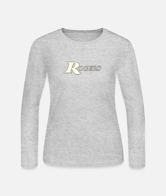Jazz Long-Sleeved Shirts - Rogers white color - Women's Jersey Longsleeve Shirt gray