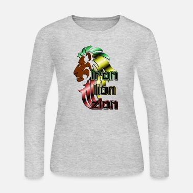 Iron Metal Reggae music, rastafari, Iron, lion, zion metal - Women's Long Sleeve Jersey T-Shirt