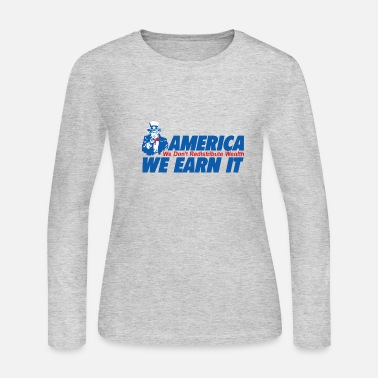 Wealth WEALTH EARN IT - Women's Jersey Longsleeve Shirt