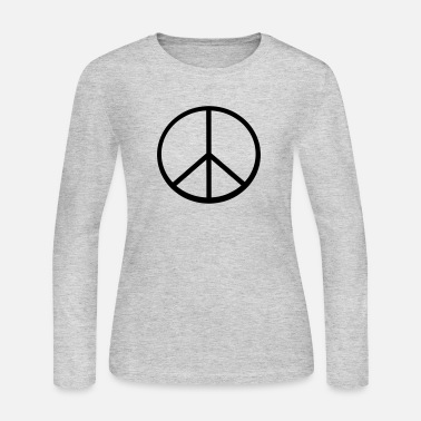 Peace Sign - Women's Jersey Longsleeve Shirt