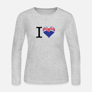Rugby I Love New Zealand - Women's Long Sleeve Jersey T-Shirt