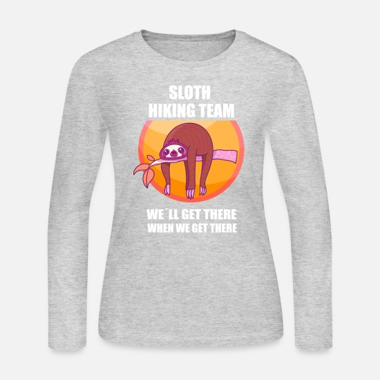 Sloth Long-Sleeve Shirts - Sloth Climbing Mountaineering Mountain Hiking - Women's Jersey Longsleeve Shirt gray
