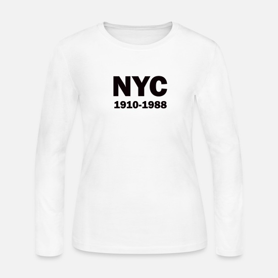 Nyc Long-Sleeve Shirts - attractive nyc old memories - Women's Jersey Longsleeve Shirt white