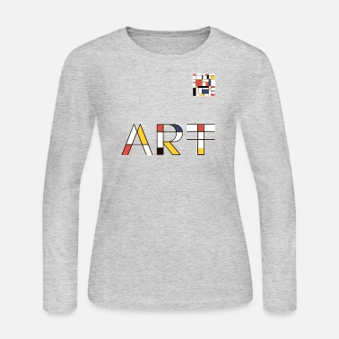 Avant-garde Art Of Lines And Colors - Women's Long Sleeve Jersey T-Shirt