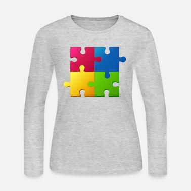 Puzzle Puzzle - Women's Long Sleeve Jersey T-Shirt