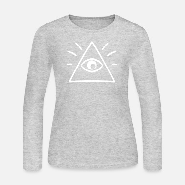 All Seeing Eye The All Seeing Eye Sees You - Women's Long Sleeve Jersey T-Shirt