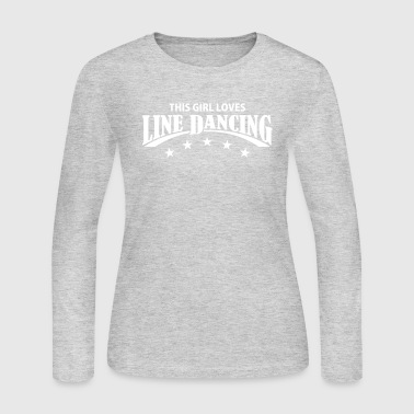 THIS GIRL LOVES LINE DANCING - Women's Long Sleeve Jersey T-Shirt