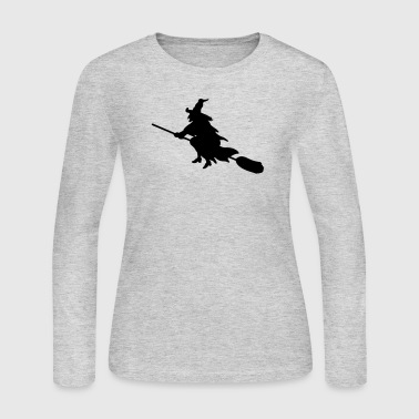 witch broom - Women's Long Sleeve Jersey T-Shirt