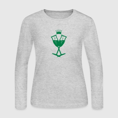 champagne glasses (1c) - Women's Long Sleeve Jersey T-Shirt