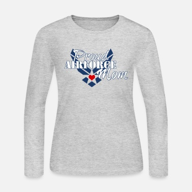 f902ed3af4db7 Proud Air Force Mom - Women's Jersey Longsleeve Shirt. Women's Jersey Longsleeve  Shirt