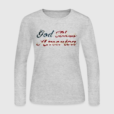 God Bless America - Women's Long Sleeve Jersey T-Shirt