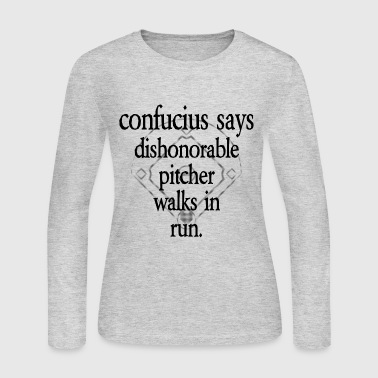 Confucius Says [1] - Persephone Productions - Women's Long Sleeve Jersey T-Shirt