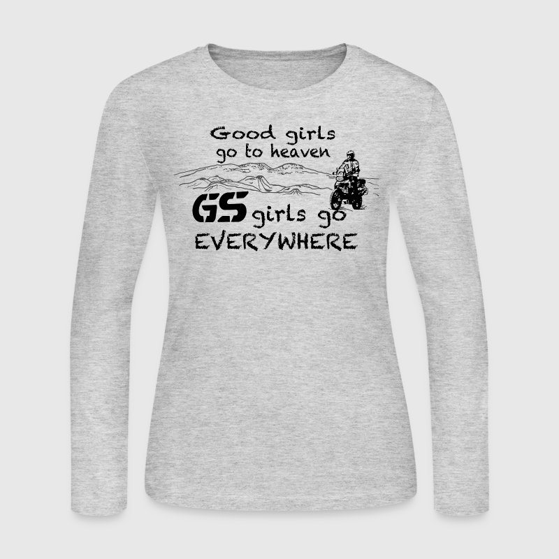 Dualsport girls go everywhere - Women's Long Sleeve Jersey T-Shirt