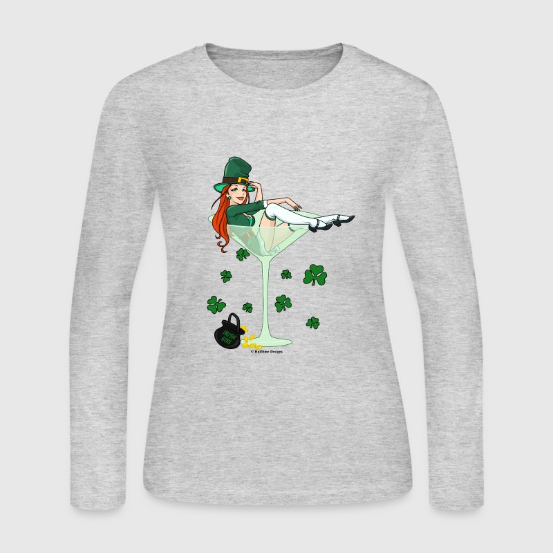 Irish Girl Martini - St. Patricks Day - Women's Long Sleeve Jersey T-Shirt