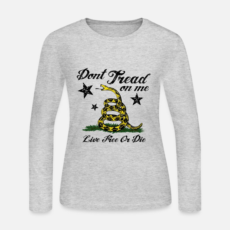 Live Long sleeve shirts - DTOM LIve Free or Die - Women's Jersey Longsleeve Shirt gray