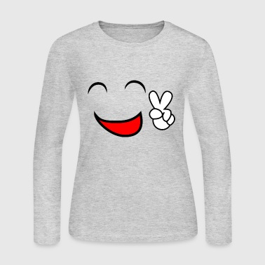 Laugh Comic Laugh Laughing Smiley Smile Face Meme Gift - Women's Long Sleeve Jersey T-Shirt