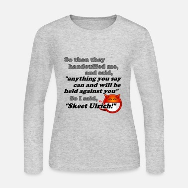 Skeet Ulrich will be held against you! - Women's Long Sleeve Jersey T-Shirt