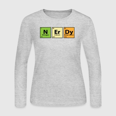 Periodic Table Nerdy - Women's Long Sleeve Jersey T-Shirt