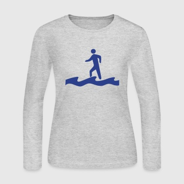 Water Walking Walk on Water - Women's Long Sleeve Jersey T-Shirt