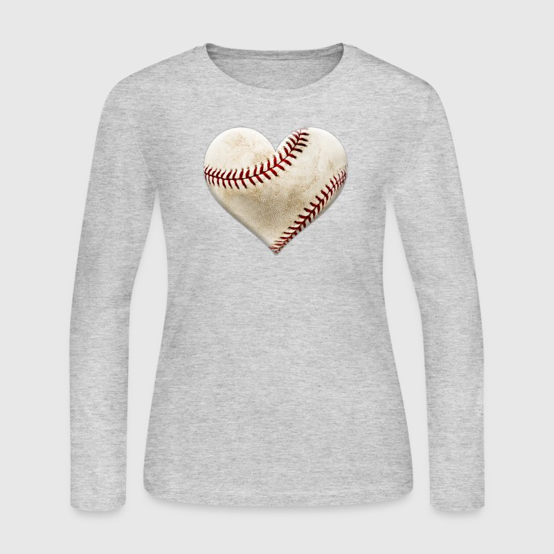 Baseball Heart - Women's Long Sleeve Jersey T-Shirt