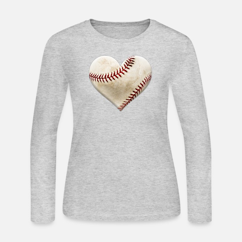 Sports Long sleeve shirts - Baseball Heart - Women's Jersey Longsleeve Shirt gray