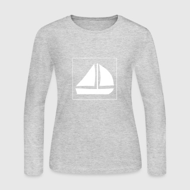 Sail Boat with two sails - Women's Long Sleeve Jersey T-Shirt