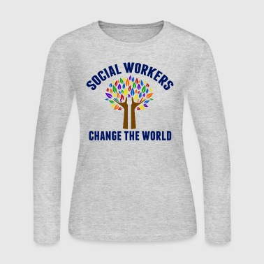 Social Work Quote - Women's Long Sleeve Jersey T-Shirt