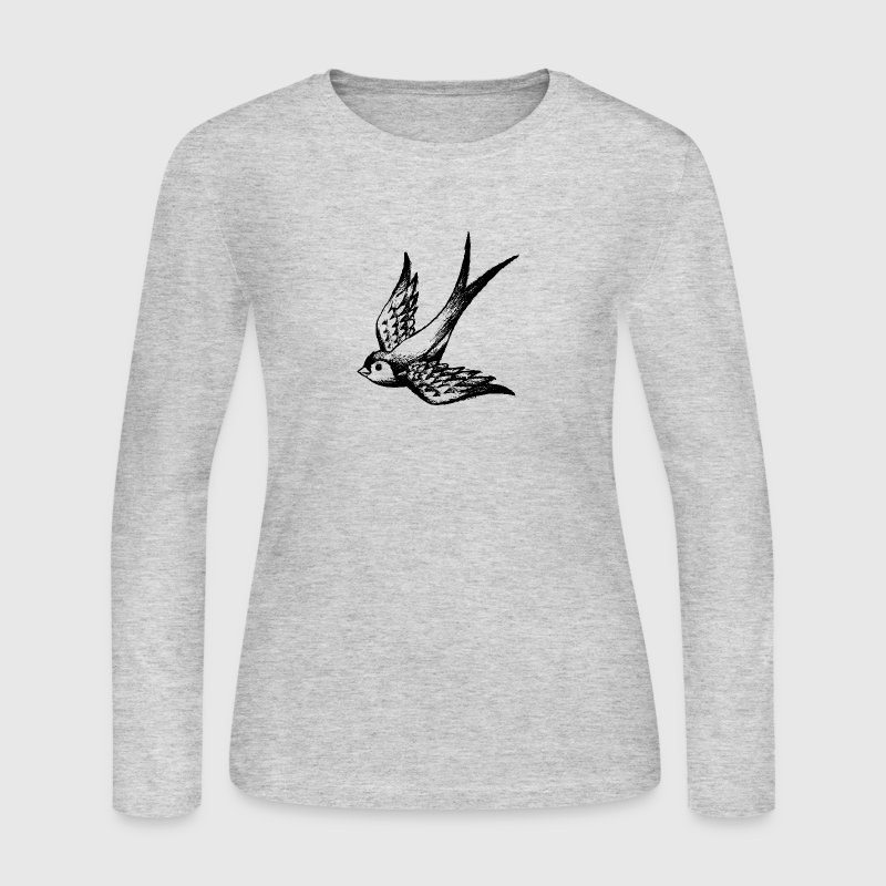 swallow bird wings lark fly summer holiday spring - Women's Long Sleeve Jersey T-Shirt