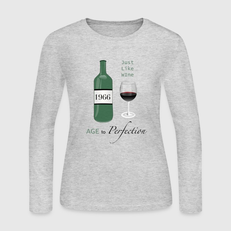 Just Like Wine 1966 50th - Women's Long Sleeve Jersey T-Shirt