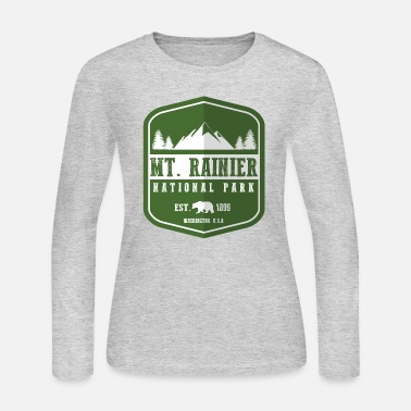 Mount Mt. Rainier National Park - Women's Jersey Longsleeve Shirt