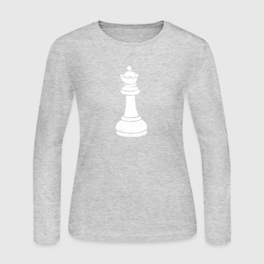 Chess Queen Chess Piece Gift - Women's Long Sleeve Jersey T-Shirt