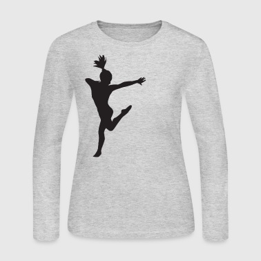 Dance Gymnastic Ballet Women Girls Teens T-shirts - Women's Long Sleeve Jersey T-Shirt