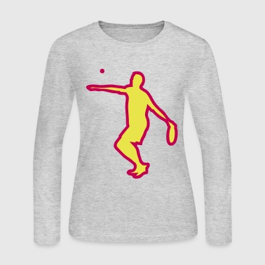 tambourine ball game 12 - Women's Long Sleeve Jersey T-Shirt