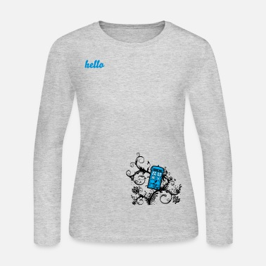 Doctor Tardis in the Ivy - Women's Long Sleeve Jersey T-Shirt